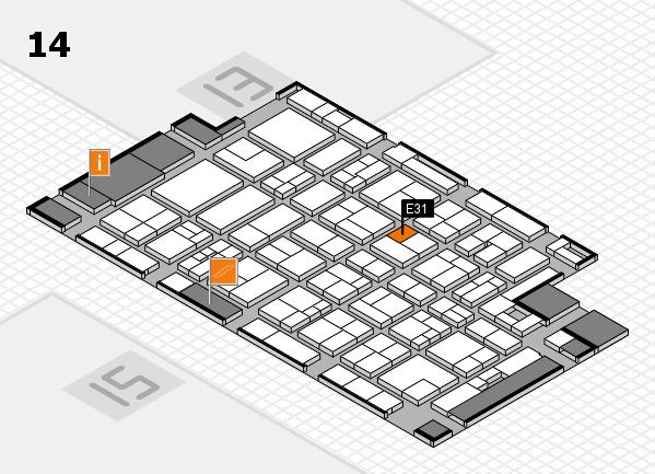 MEDICA 2017 Hallenplan (Halle 14): Stand E31