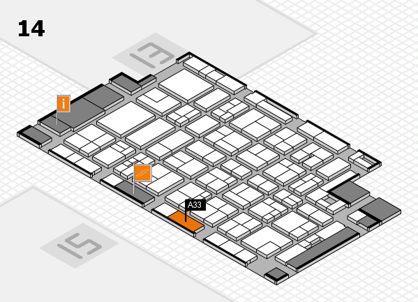 MEDICA 2017 hall map (Hall 14): stand A33