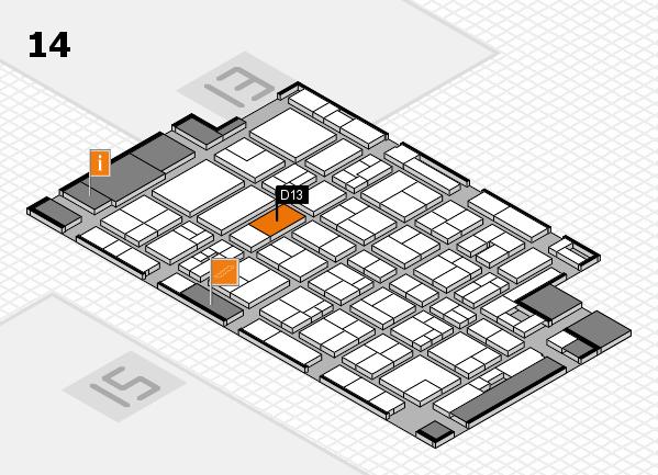MEDICA 2017 Hallenplan (Halle 14): Stand D13