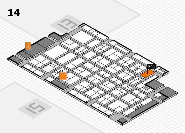 MEDICA 2017 hall map (Hall 14): stand F45
