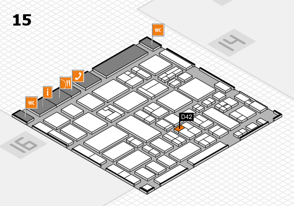 MEDICA 2017 hall map (Hall 15): stand D42