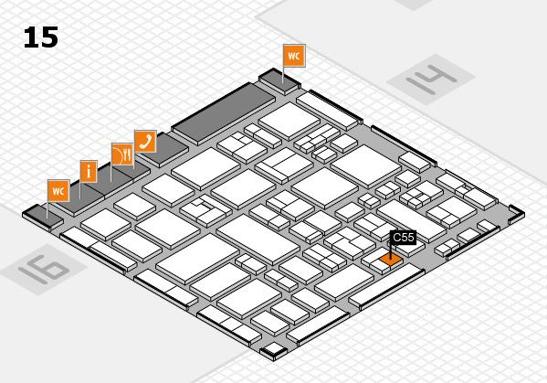 MEDICA 2017 hall map (Hall 15): stand C55