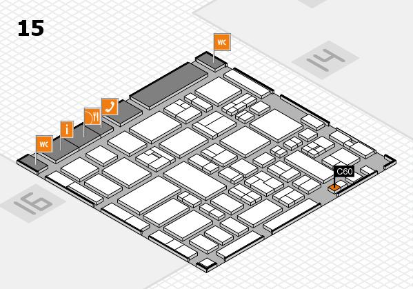 MEDICA 2017 hall map (Hall 15): stand C60