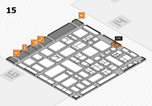 MEDICA 2017 hall map (Hall 15): stand A38