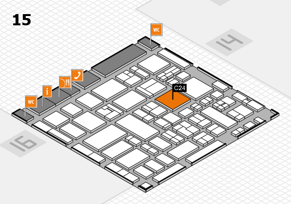 MEDICA 2017 hall map (Hall 15): stand C24