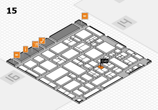 MEDICA 2017 hall map (Hall 15): stand C43