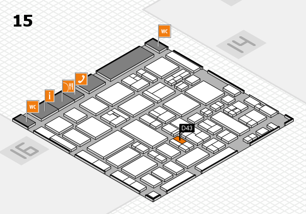 MEDICA 2017 hall map (Hall 15): stand D43