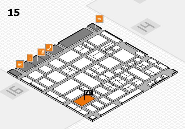 MEDICA 2017 hall map (Hall 15): stand F42