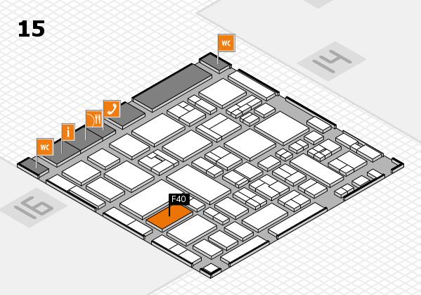 MEDICA 2017 hall map (Hall 15): stand F40
