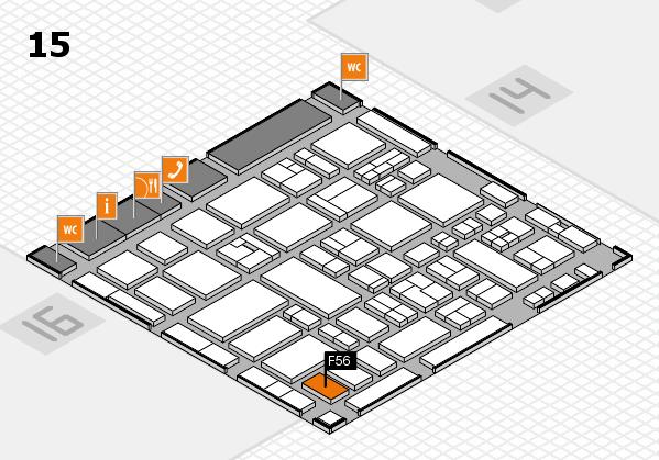 MEDICA 2017 hall map (Hall 15): stand F56