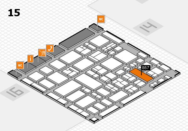MEDICA 2017 hall map (Hall 15): stand B57