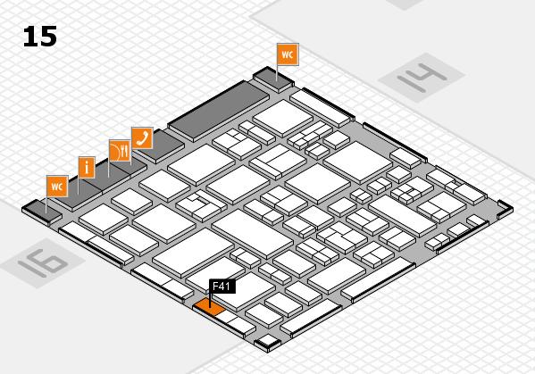 MEDICA 2017 hall map (Hall 15): stand F41
