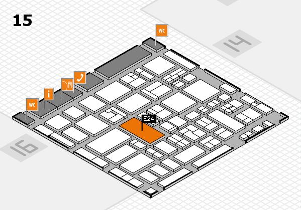 MEDICA 2017 hall map (Hall 15): stand E24