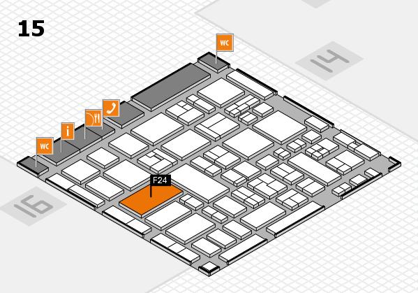MEDICA 2017 hall map (Hall 15): stand F23
