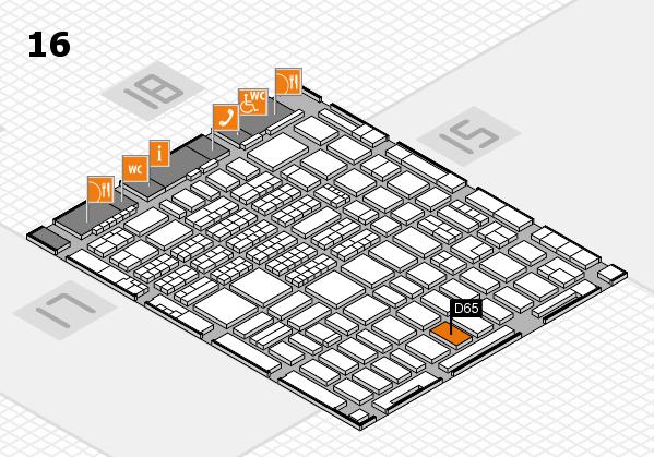 MEDICA 2017 hall map (Hall 16): stand D66