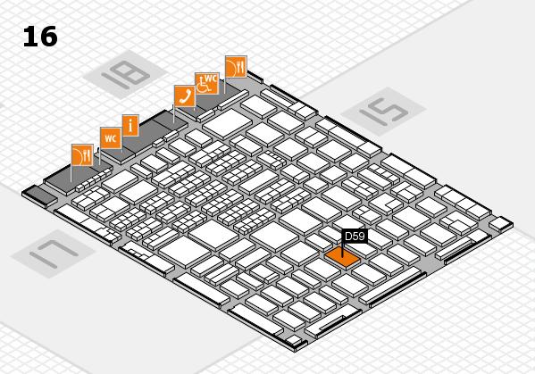 MEDICA 2017 hall map (Hall 16): stand C60