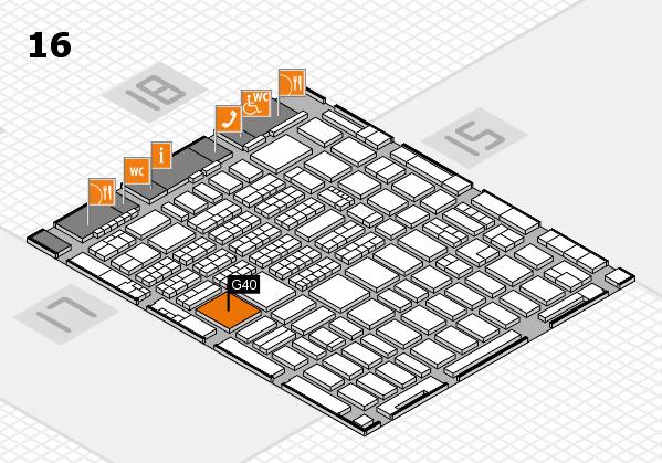 MEDICA 2017 hall map (Hall 16): stand G40