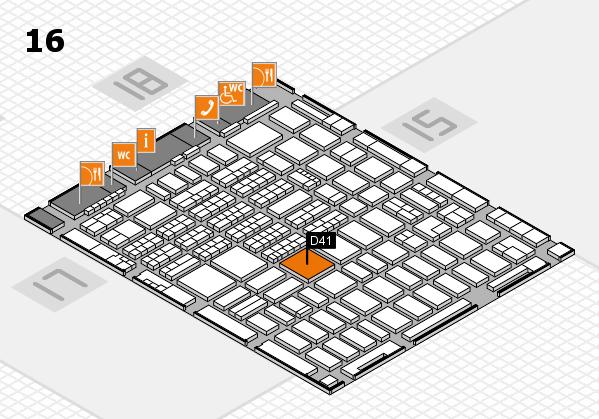MEDICA 2017 hall map (Hall 16): stand D41
