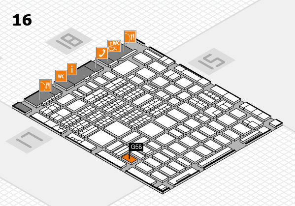 MEDICA 2017 hall map (Hall 16): stand G58