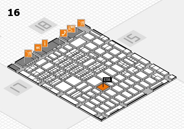 MEDICA 2017 hall map (Hall 16): stand E58