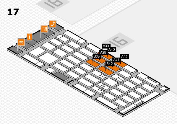 MEDICA 2017 hall map (Hall 17): stand A30, stand B42