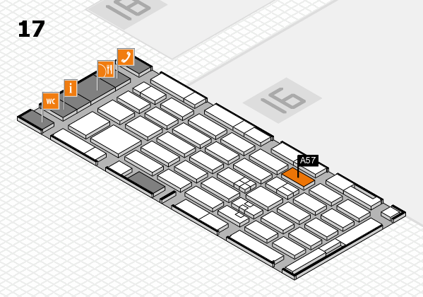 MEDICA 2017 hall map (Hall 17): stand A57