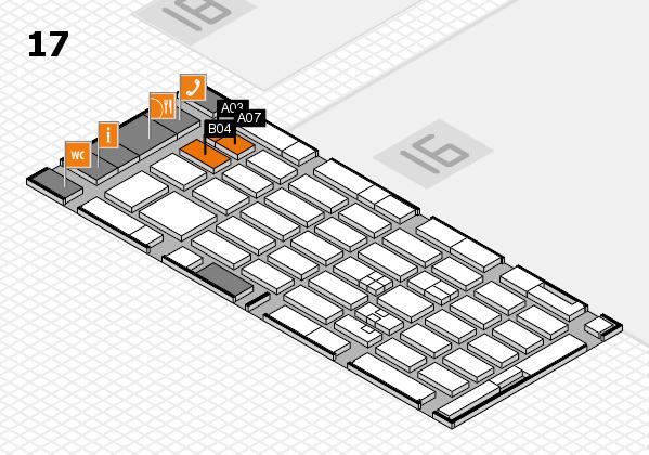 MEDICA 2017 hall map (Hall 17): stand A03, stand B04