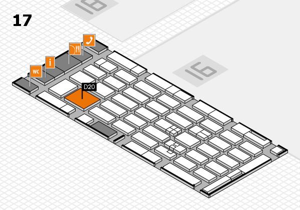 MEDICA 2017 hall map (Hall 17): stand D20