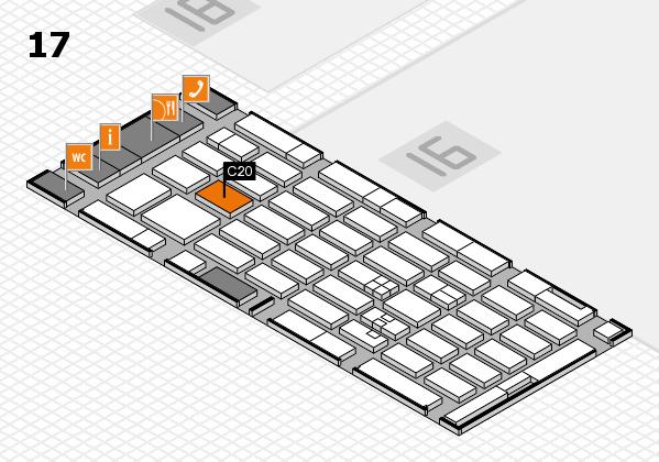 MEDICA 2017 hall map (Hall 17): stand C20
