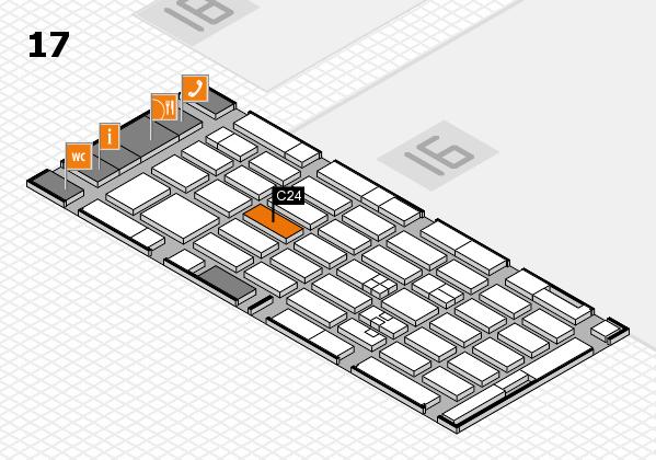 MEDICA 2017 hall map (Hall 17): stand A23
