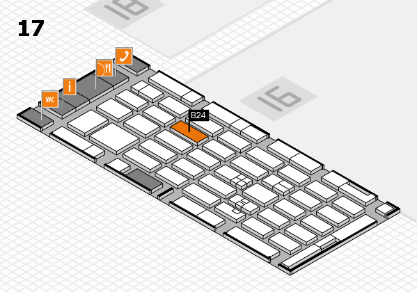 MEDICA 2017 hall map (Hall 17): stand A23