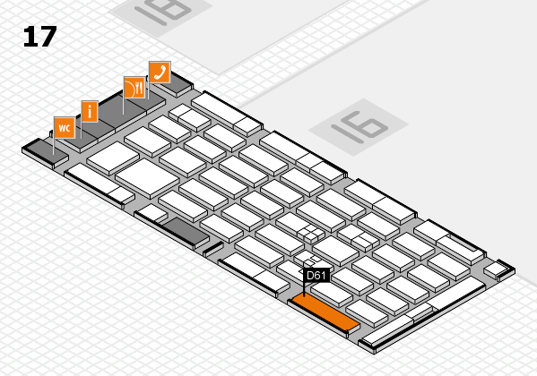 MEDICA 2017 hall map (Hall 17): stand D61