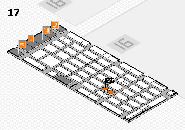 MEDICA 2017 hall map (Hall 17): stand C57