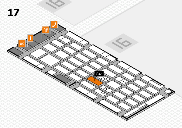 MEDICA 2017 hall map (Hall 17): stand C41