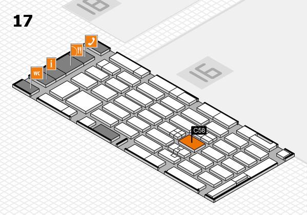 MEDICA 2017 hall map (Hall 17): stand C58