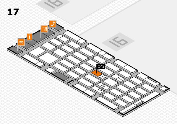 MEDICA 2017 hall map (Hall 17): stand C42
