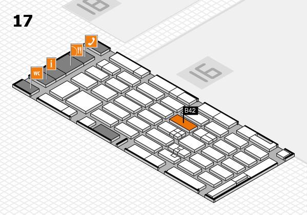 MEDICA 2017 hall map (Hall 17): stand B42