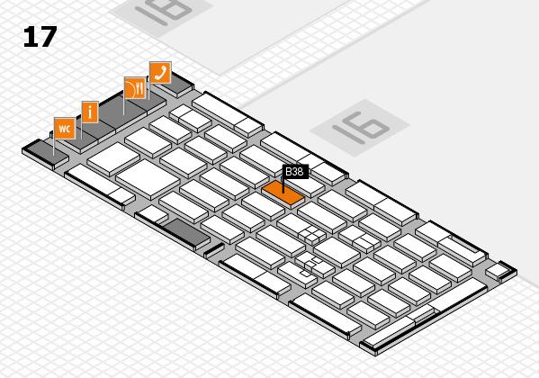 MEDICA 2017 hall map (Hall 17): stand B38