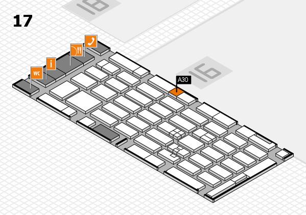 MEDICA 2017 hall map (Hall 17): stand A30
