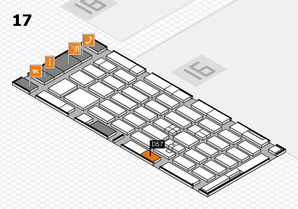 MEDICA 2017 hall map (Hall 17): stand D57