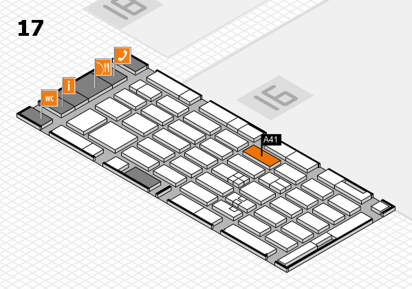 MEDICA 2017 Hallenplan (Halle 17): Stand A41