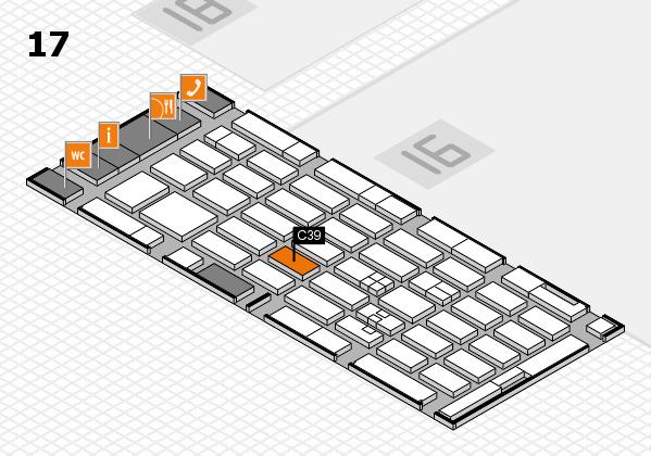 MEDICA 2017 hall map (Hall 17): stand C39