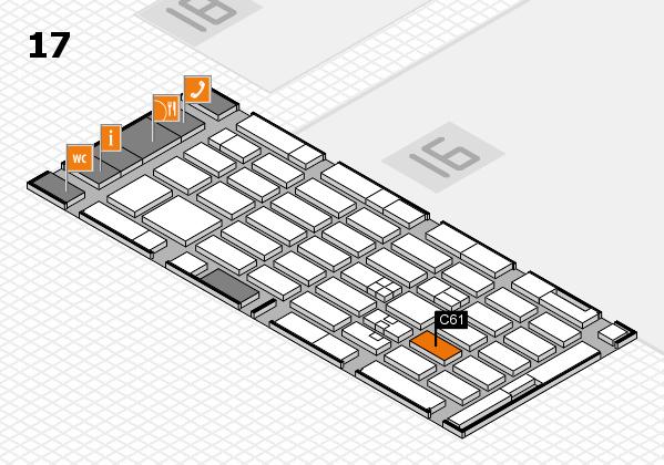 MEDICA 2017 hall map (Hall 17): stand C61