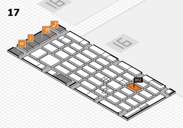 MEDICA 2017 hall map (Hall 17): stand B62