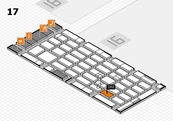MEDICA 2017 hall map (Hall 17): stand D62