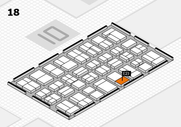 MEDICA 2017 Hallenplan (Halle 18): Stand E23