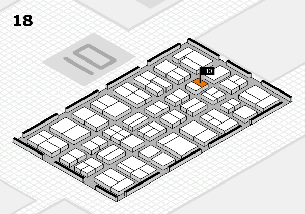 MEDICA 2017 hall map (Hall 18): stand H10