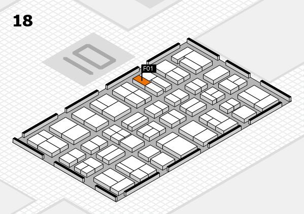 MEDICA 2017 hall map (Hall 18): stand F01