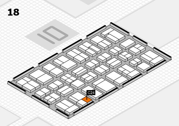MEDICA 2017 hall map (Hall 18): stand C24