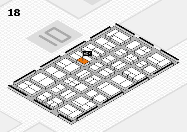 MEDICA 2017 hall map (Hall 18): stand E07